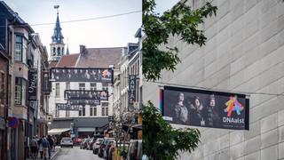 DNAalst banners in de stad
