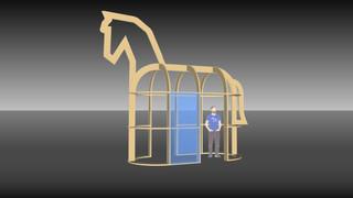 ros beiaard expo 3D tekening