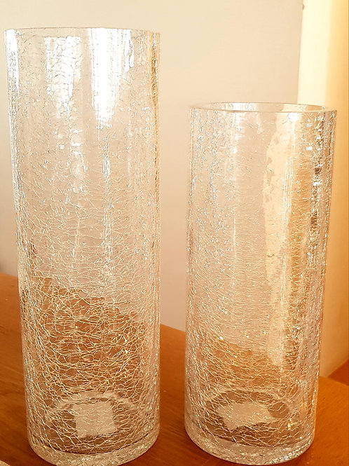 HIRE - Large Crackle Cyclinder Vase