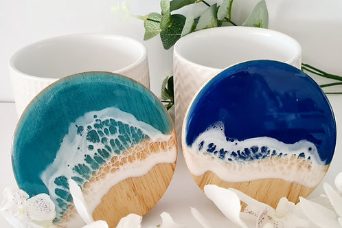 Small Beach theme Resin Art Cannisters