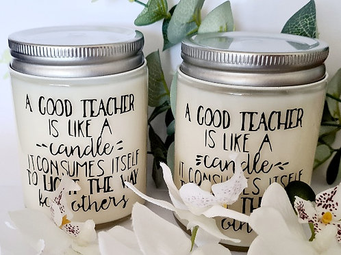 Personalised Teacher Gift Candles