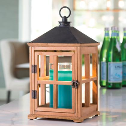 Natural Teak Wooden Lantern