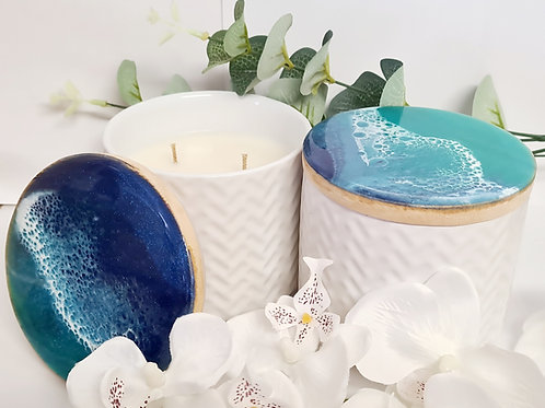 Beach Theme Resin Candle