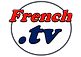 French TV  Logo Rojo y Azul Fondo Blanco