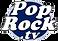 POP ROCK TV  Logo Azul Blanco Negro Fond