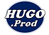 HUGO PROD Logo Azul Blanco Negro Fondo B