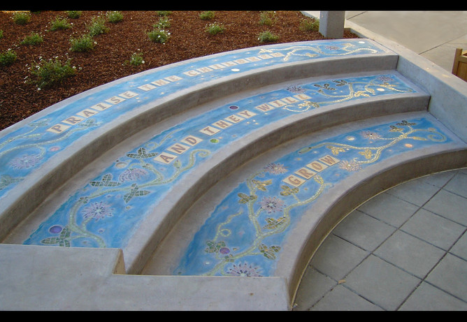 Step Inserts for Santa Clara Public Library Children's Garden