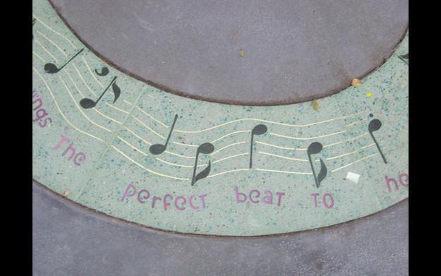 Detail of terazzo tile