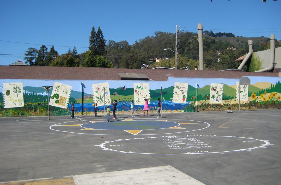 Edible plant mural