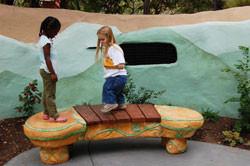 Children on Marimba bench