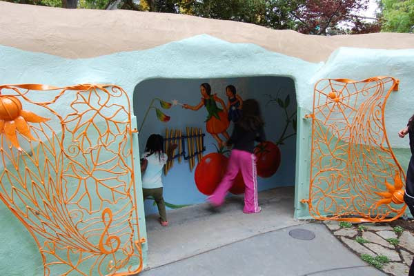 Children playing in Tunnel