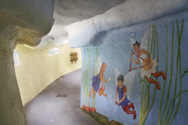 Mural of Children tending plants