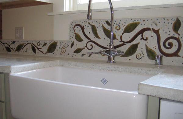 Terazzo kitchen backsplash, private residence, San Francisco Bay Area