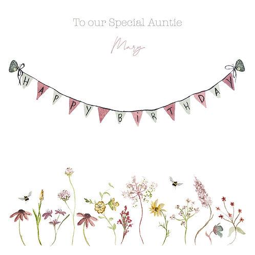 Personalised Bunting Happy Birthday Card