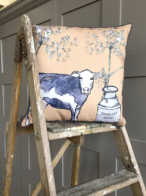 Somerset Cow Cushion