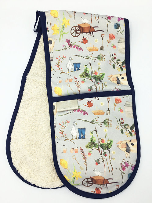 Farm Garden Double Oven Gloves