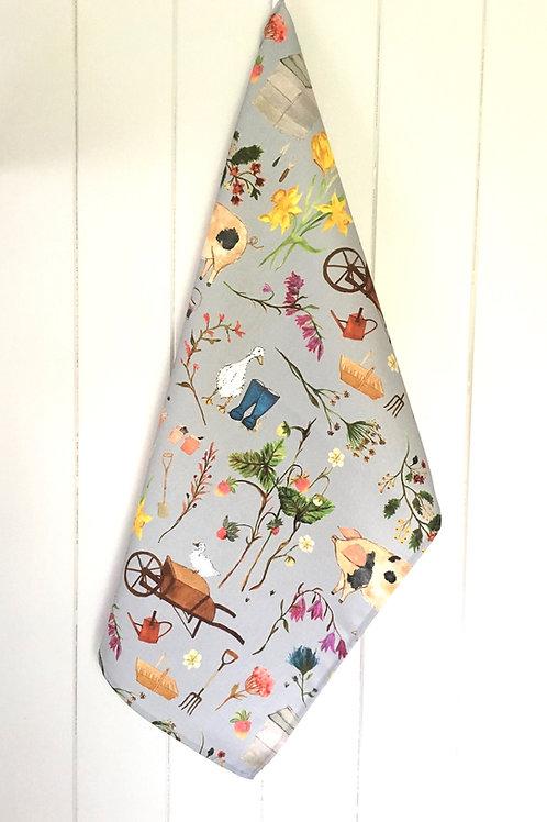 Farm Garden Tea Towel