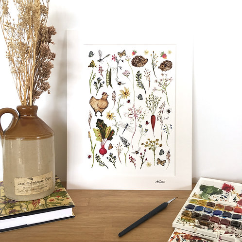 Country Meadows collection limited edition signed art print.