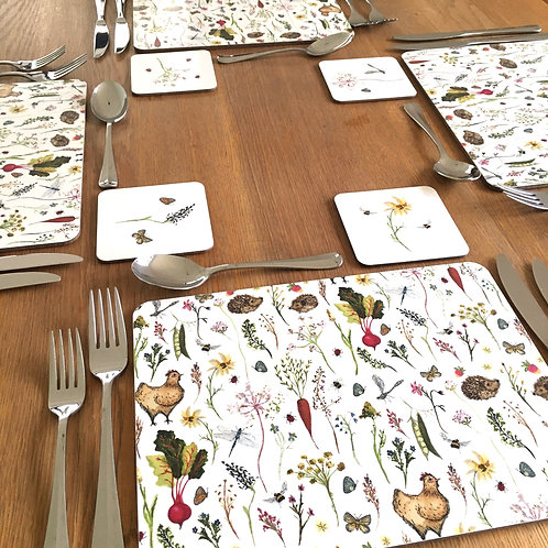 Country Meadow Placemats - Set of 4