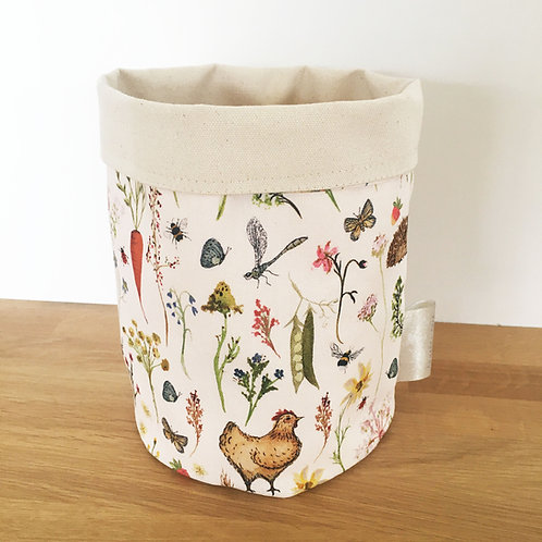 Annabel Rose Cotton Country Meadows Pot Bag