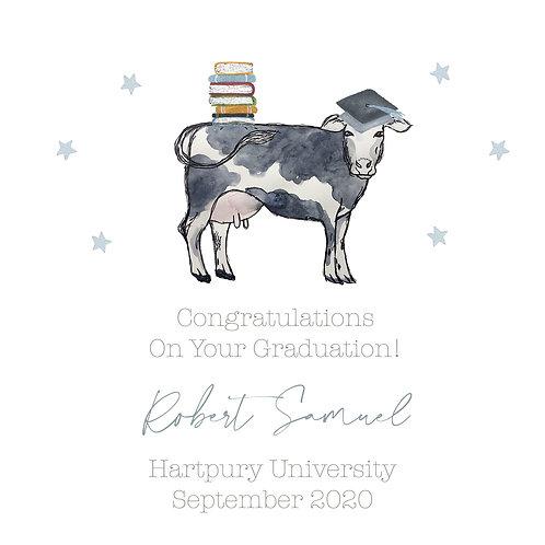 Personalised Boys Graduation card