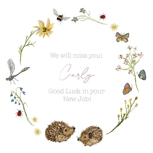 Good Luck/New Job Personalised Card