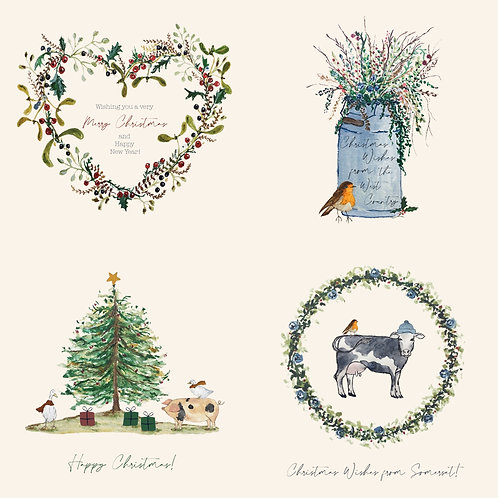 Selection of 24 Christmas Cards