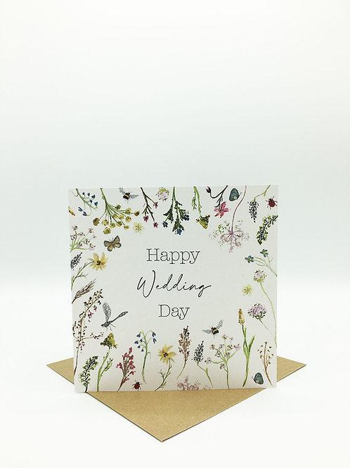 Happy Wedding Day Greetings Card