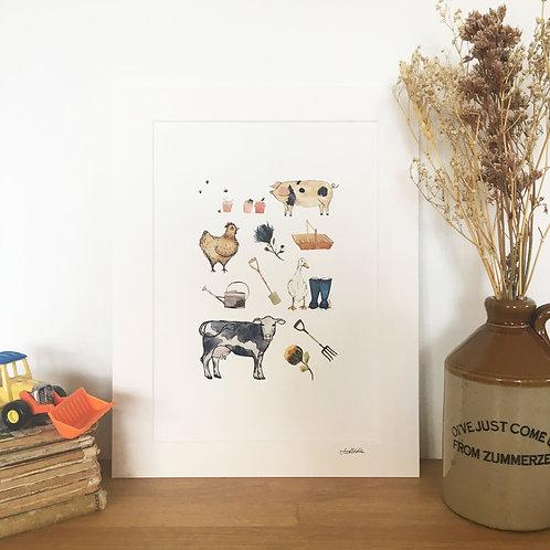 Farmyard Print