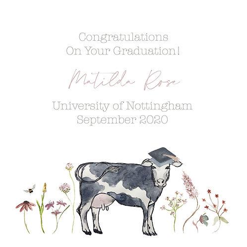 Personalised Girls Graduation Card