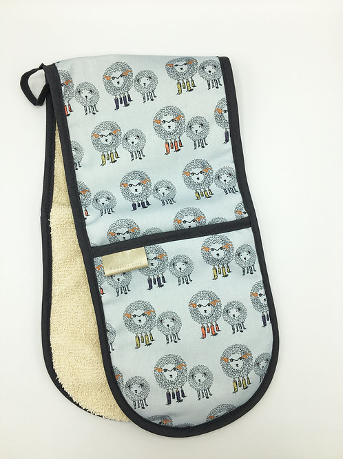 Sheep Double Oven Gloves