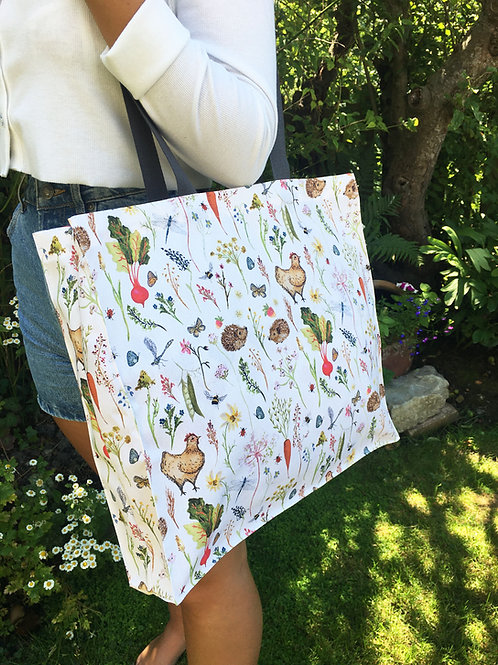 Annabel Rose Country Meadows Canvas Bag