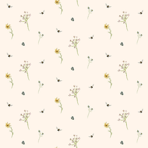 Honey Bee Cottage Fabric by the Metre