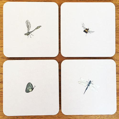 Cottage Garden Coasters - Set of 4