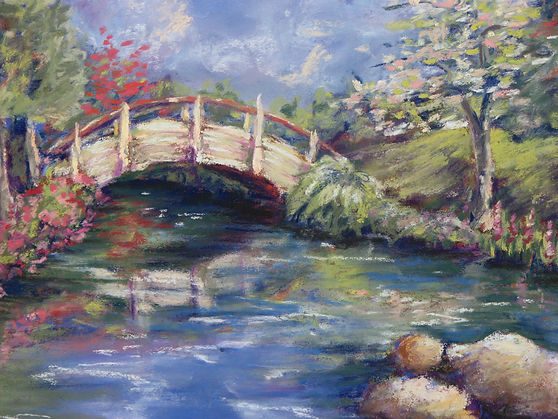Moon Bridge (pastel painting)