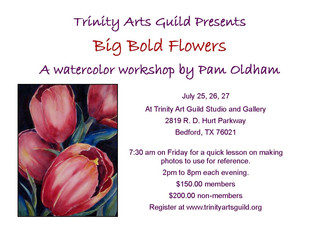 Join me for my upcoming workshop at Trinity Art Guild.  July 25,26,27, 2014