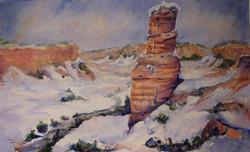 Snow on Lighthouse Rock