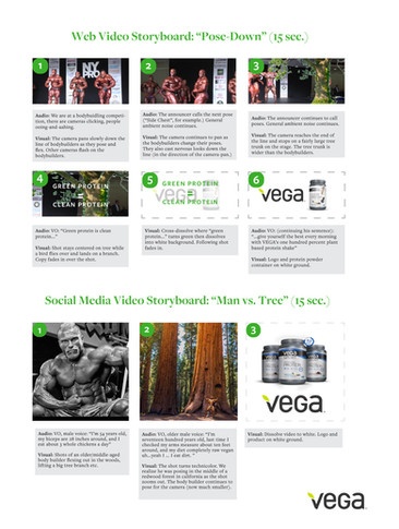 Storyboard for a Vega Video Campaign