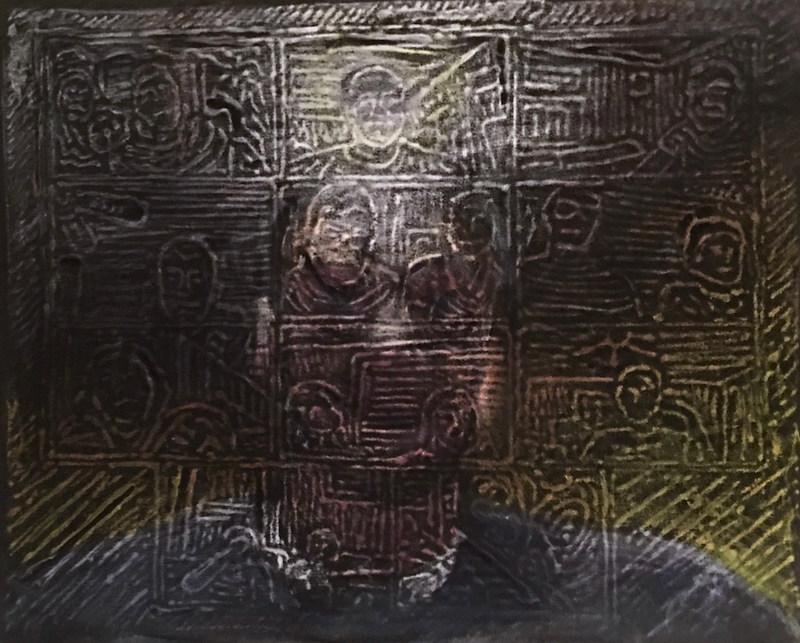 Self Portrait with Zoom Happy Hour, 2020