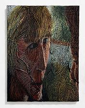 Vampire 2021 pastel rubbing on canvas re