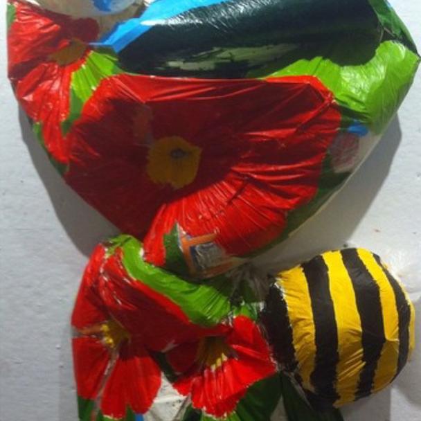 bumblebee poppies