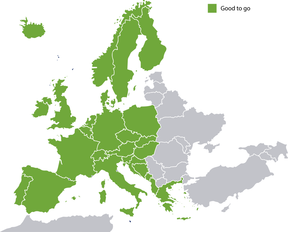 Europe satellite map vector graphics [Co
