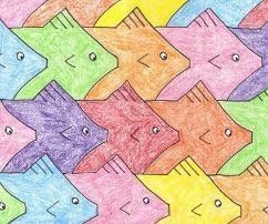 Escher' fishes