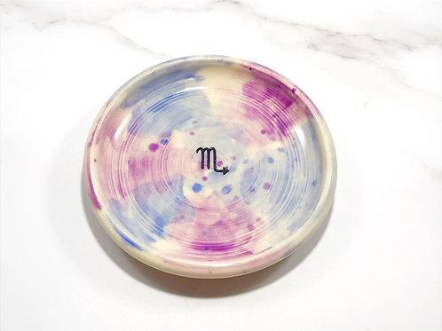 Scorpio Watercolor Dish