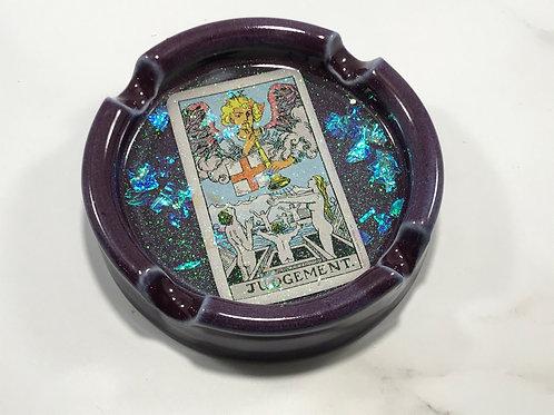 Judgement Purple Tarot Card Ash Tray