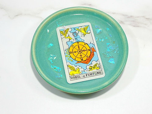 Wheel of Fortune Tarot Card Dish