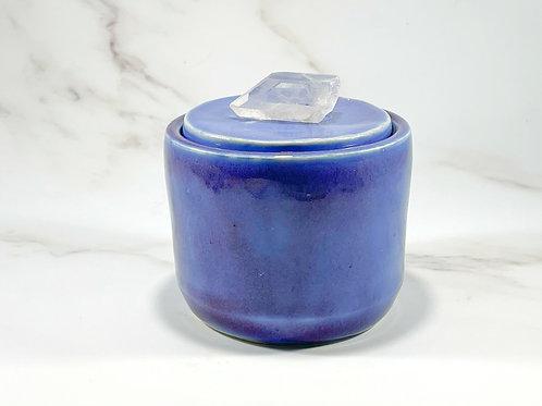 Purple Jar with Clear Quartz