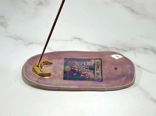 The Tower Purple Tarot Incense Holder