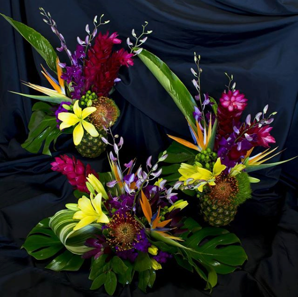 Tropical Birthday Party Centerpieces