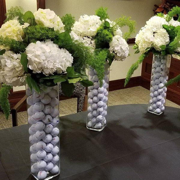 Golf Themed Floral Statements